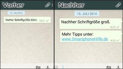 Whatsapp Schrift ändern