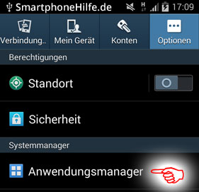 android-anwendungsmanager