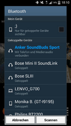 bluetooth-kopplung