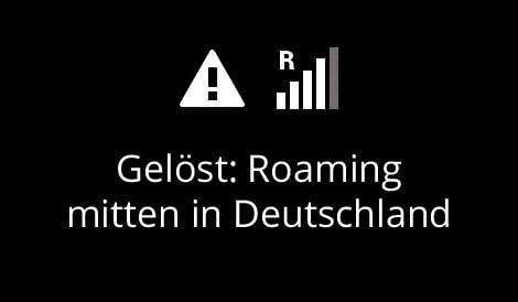roaming mitten in Deutschland